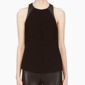 rag & bone Black Nudie Top Sleeveless Leather M